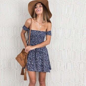 Women Summer Sexy Print Dress Plus Size Slash Neck Sundress Summer Mini Ruffle Short Sleeve Dresses Female New Clothing plus tie neck lace insert ruffle botanical dress