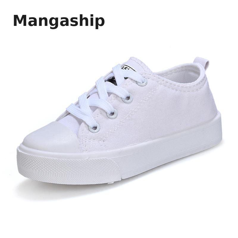 Low Help Basic Kid Canvas Shoes Student Shoes For Girls 2019 Spring And Autumn Breathable Non-slip Big Children Boy Casual Shoes