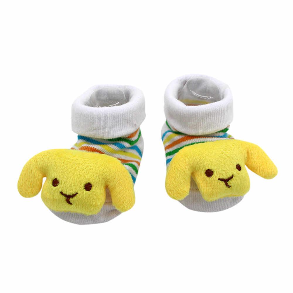 Calcetines lindos de bebé de dibujos animados para recién nacidos calcetines antideslizantes para invierno
