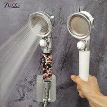 Zloog New Bath Shower 3-Function Adjustable Jetting Spa Shower Head High Pressure Bathroom Anion Filter Shower Head
