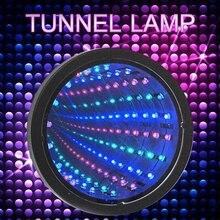LED Infinity Mirror Tunnel Light Lamp Round Flood Light Multicolour Sensory Light Autism Relaxing Calm Desk Light Lamp