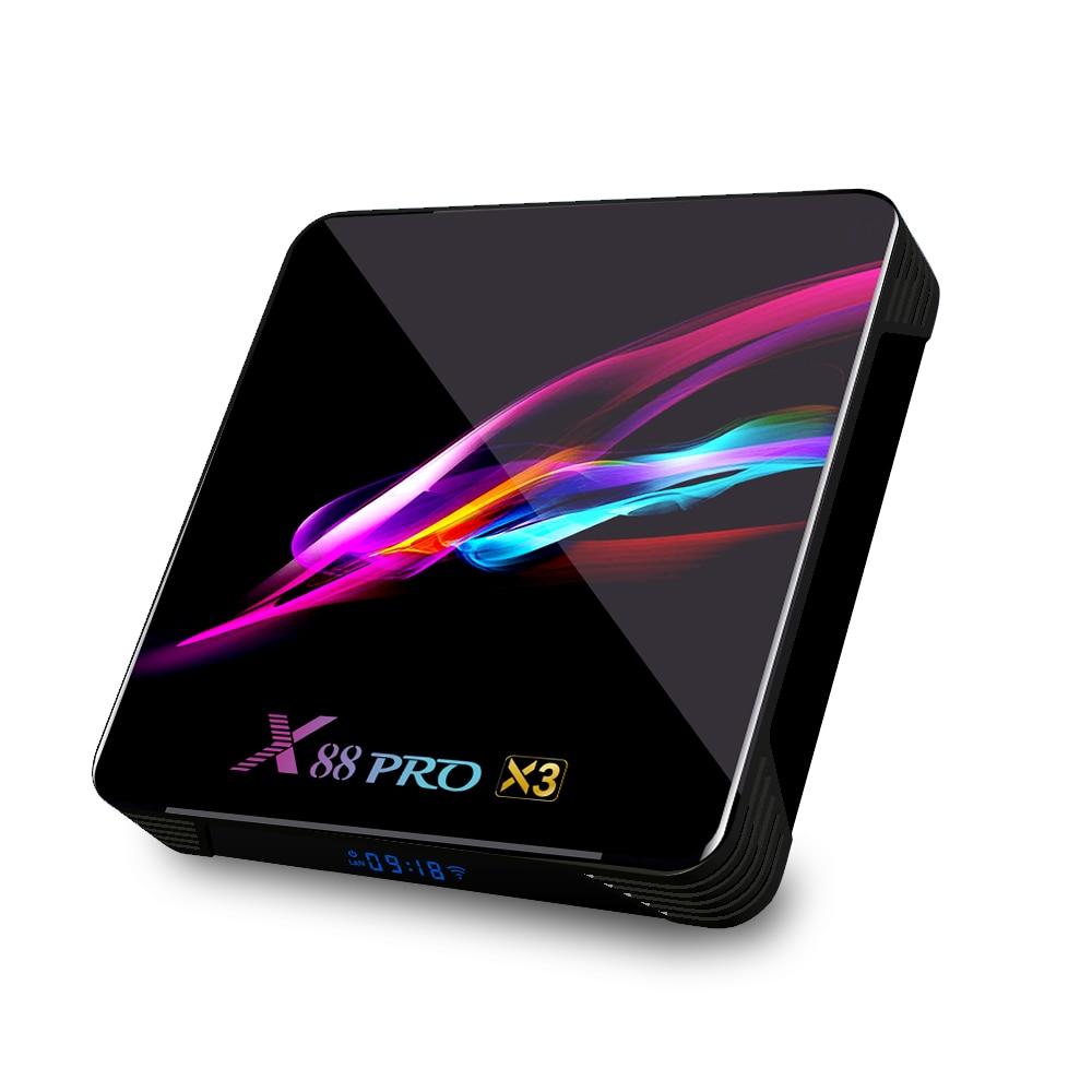 X88 Pro X3 Android 9.0 TV Box S905X3 Quad Core 4GB+128GB// 64GB// 32GB Media C0F3
