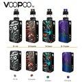 Original Voopoo arrastrar 2 TC Kit W/177 W Voopoo arrastrar 2 Caja MOD y 5ML Uforce T2 kit vaporizador de cigarrillo electrónico de tanque SubOhm