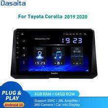 Android 10.0 autoradio GPS pour Toyota corolla multimédia 2019 2020 stéréo 1Din DSP HD Support Original caméra JBL amplificateur
