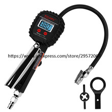 Tools Digital Tire Inflator with Pressure Gauge, 250 PSI Air Chuck and Compressor Accessories Heavy Duty with Rubber Hose
