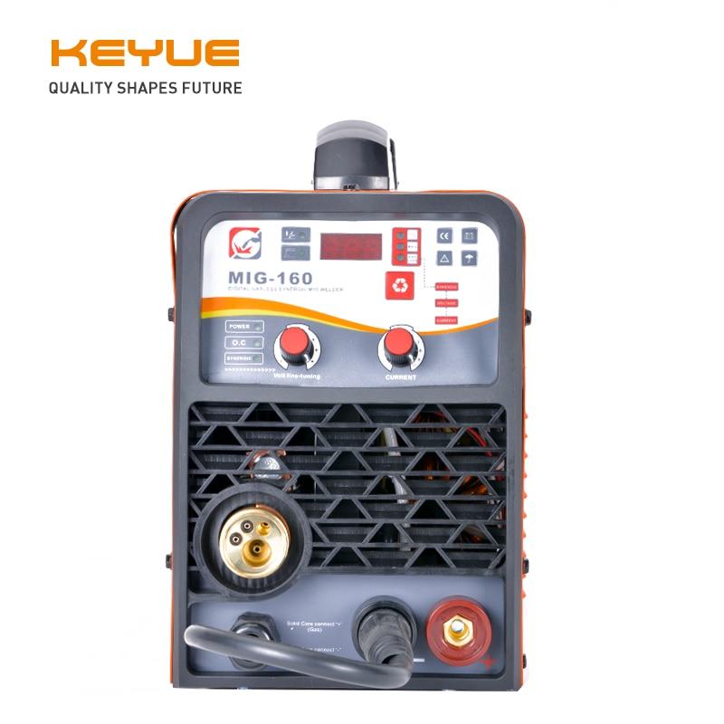 KEYUE MIG-160 Tragbare schweißer schweiß maschine MIG MAG 220V synergic DC 5kg Gas Gaslose solide flux core ARC 3,2mm lift TIG 3 in 1