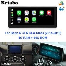 Phát Thanh Xe Hơi Android Đa Phương Tiện Cho Xe Mercedes Benz Một Lớp W176 GLA CLA Lớp 2015 ~ 2019 10.25 Inch Cảm Ứng màn Hình Đồng Hồ Định Vị GPS