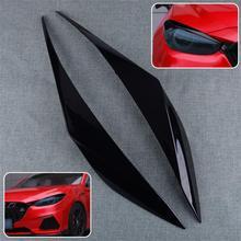 DWCX pestañas para faro de coche, 2 uds., color negro ABS, embellecedor para párpados, apto para Mazda 3 Axela Sedan 2017 2018
