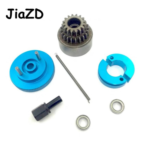 1Set Complete Flywheel Clutch bell 14T & Shoes Spring Ball Bearings 5x10x4 mm Nitro Engine Parts For HSP 1/10 Buggy Truck Truggy Karachi