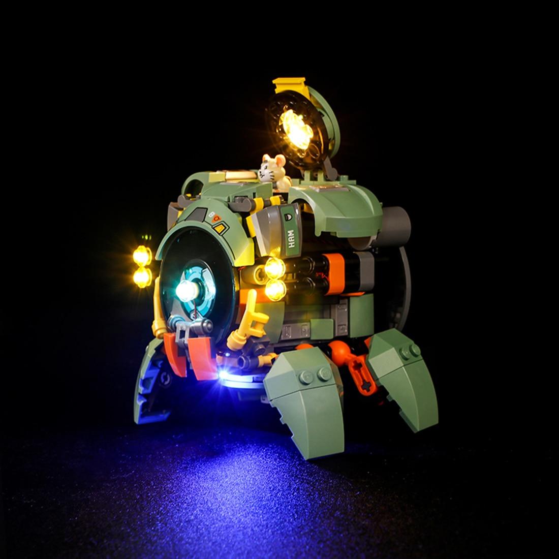 Vonado USB LED Lighting Kit For Overwatch Wrecking Ball 75976(LED Included Only, No Kit) Toy For Children Educational Toys Gift 4