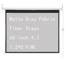 Thinyou матовая серая ткань стекловолокно 60 дюймов 4:3 электрический экран для 3D светодиодный DLP проектор моторизованные проекционные экраны