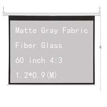 Thinyou Matte Gray Fabric Fiber Glass 60 inch 4:3 Electric Screen For 3D LED DLP Projector Motorized Projection Screens