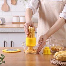 Household daily kitchen supplies slicer peeler ginger sharpener corn peeler grain separator built-in measuring cup and chopper