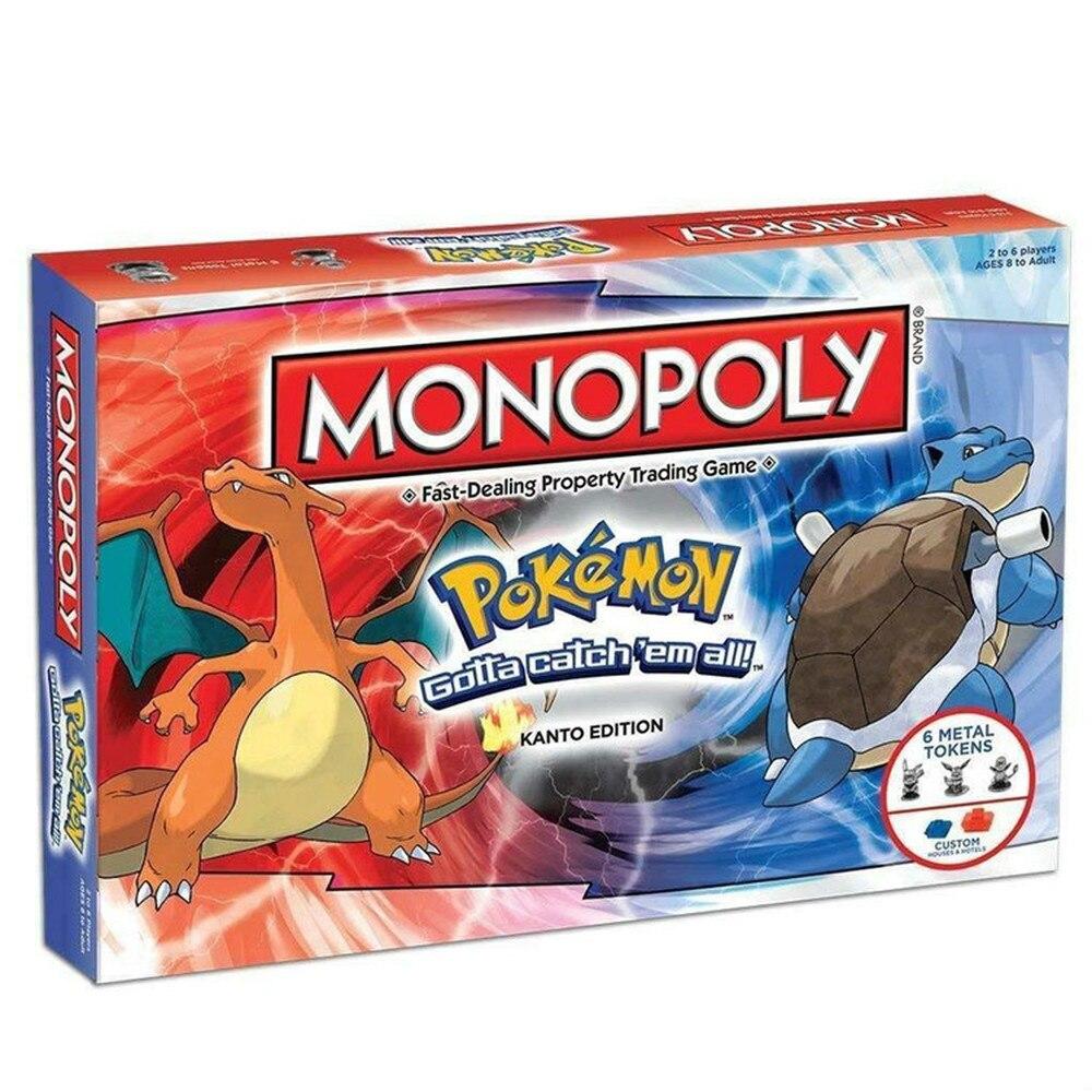 Takara Tomy Pokemon Toys Monopoli Game Adult Children Party Board Card Games  Kids   Monopoly Gift