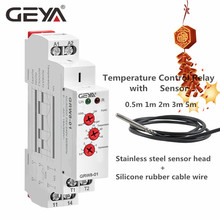 цена на GEYA Temerature Control Relay with Waterproof Sensor AC/DC24V-240V 16A Electrical Relays