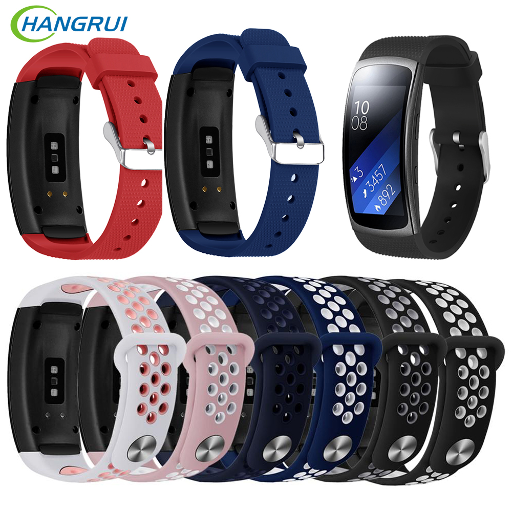 Soft Silicone Watch band For Samsung Galaxy Gear Fit 2 Pro Wrist Strap For Samsung Gear Fit2 SM-R360 Bracelet Straps Accessories
