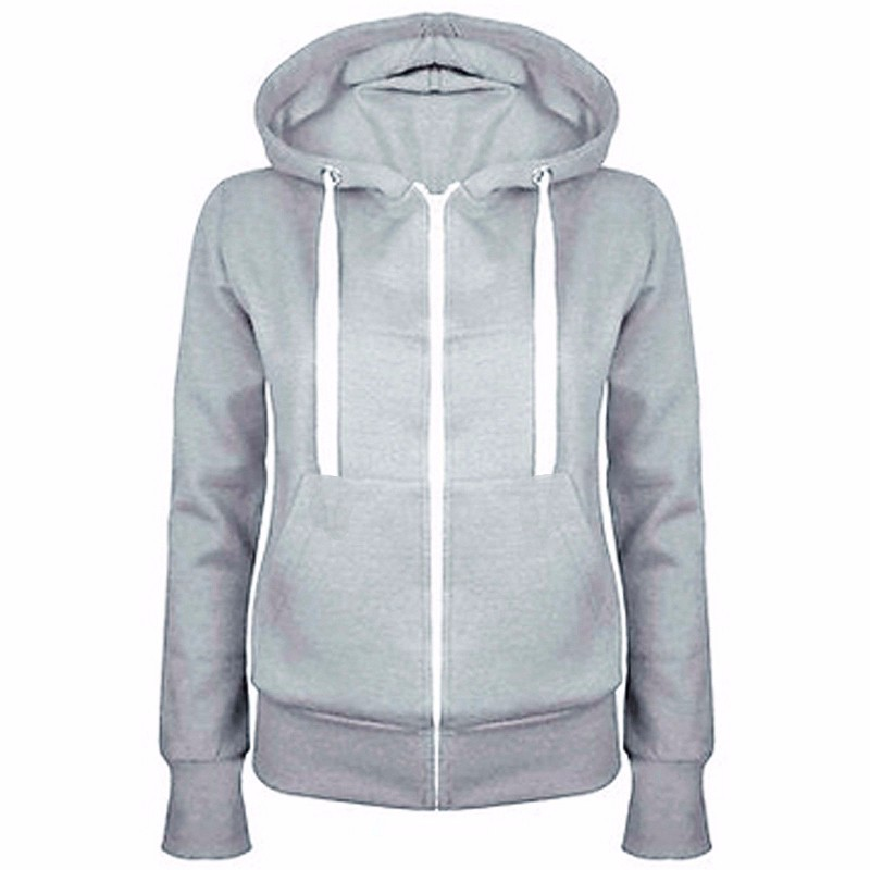 5-color Fashion Women's Hooded Sweatshirts 2019 Autumn New Simple Slim Lady Color Matching Streetwear Hip-hop Pocket Top Coat
