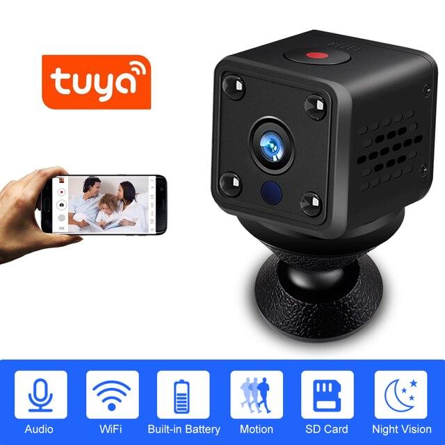 אבטחת IP מצלמה 1080P סוללה כוח 140 תואר ראיית לילה אודיו Reording 2MP אלחוטי Wifi מיני מצלמה Tuya חכם חיים