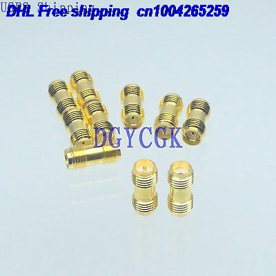 DHL 200pcs Conversion Adapter RPSMA female to SMA F for Antenna golden connector 22-ct