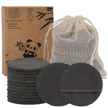 14/20 Packs Reusable Bamboo Cotton Makeup Remover Pads  Facial Toner Pads Washable 4 Layer Face Pads Facial Skin Care Wipe Pads 1