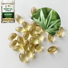 Minch mais novo cápsulas de óleo de semente de cânhamo rosto cápsulas alívio da dor natural cbd óleo softgel cápsulas 3000mg suplemento dietético orgânico
