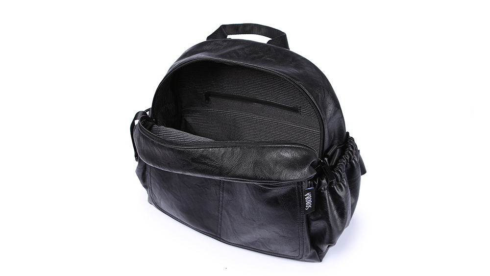 H9114d31024094363be2cb6e8c993ccc7p Fashion Maternity Nappy Changing Bag for Mother Black Large Capacity Fashion Diaper Bag with 2 Straps Travel Backpack for Baby