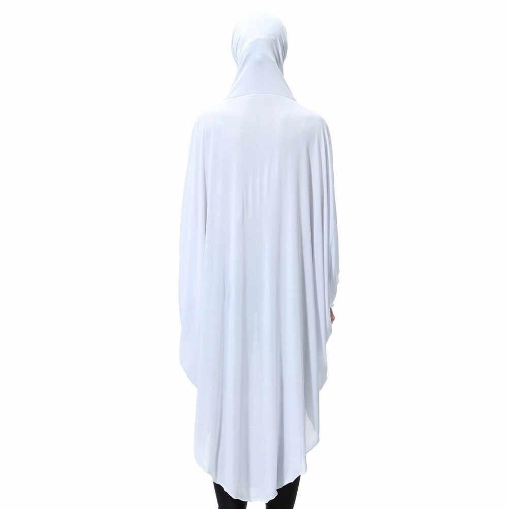Abaya długie szaty tunika bliski wschód Ramadan emiraty damskie codzienne na co dzień muzułmańska Soild długo z długim rękawem w stylu Vintage moda sukienki islamskie