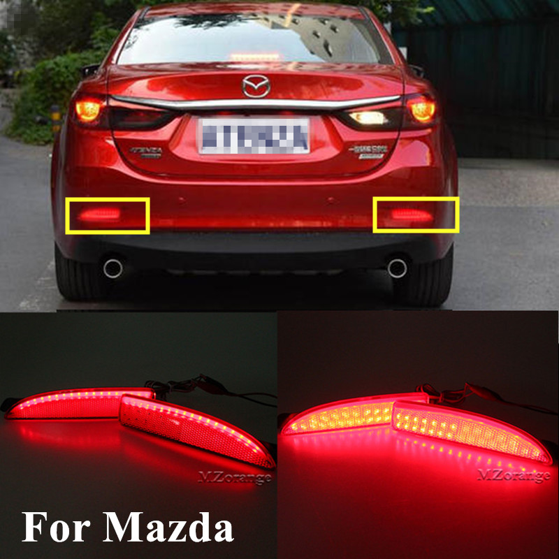 Car-styling Left & Right <font><b>LED</b></font> Rear Bumper Reflector Brake Stop <font><b>Light</b></font> For <font><b>Mazda</b></font> <font><b>6</b></font> Atenza For <font><b>Mazda</b></font> 2 DY For <font><b>Mazda</b></font> 3 Axela (CA240) image