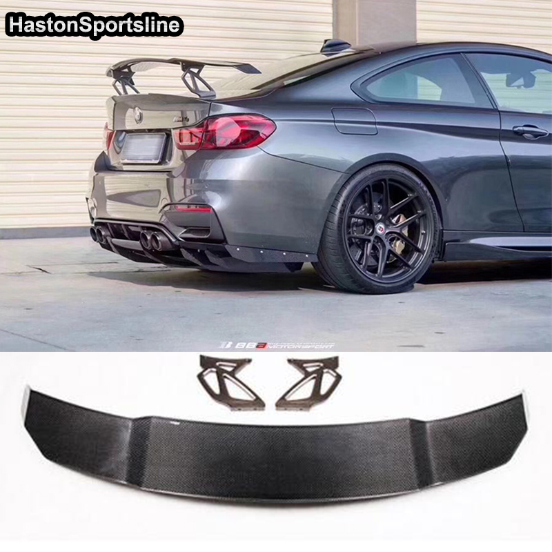Vorsteiner Style Carbon Fiber Car Styling Rear Trunk lip spoiler Wing for BMW F80 M3 E92 E46 F82 M4 F22 G20 G30 image