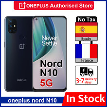 OnePlus-teléfono inteligente Nord N10, versión Global, 5G, 690 Snapdragon, Android 10,0, pantalla de 90Hz, cámara cuádruple de 64MP, urdimbre 30T, NFC