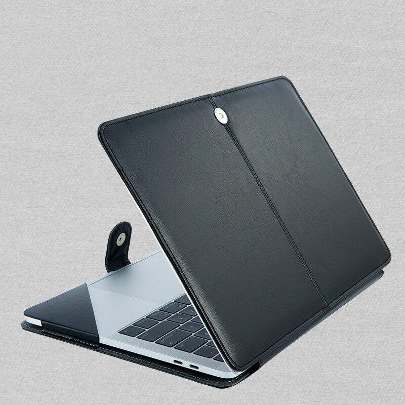 Sacoche en cuir pour ordinateur portable pour 2020 A2337 A2338 nouveau Apple Macbook Air Pro Retina Touch Bar 11 12 13 15 16 pouces A1370 A1502 A2251