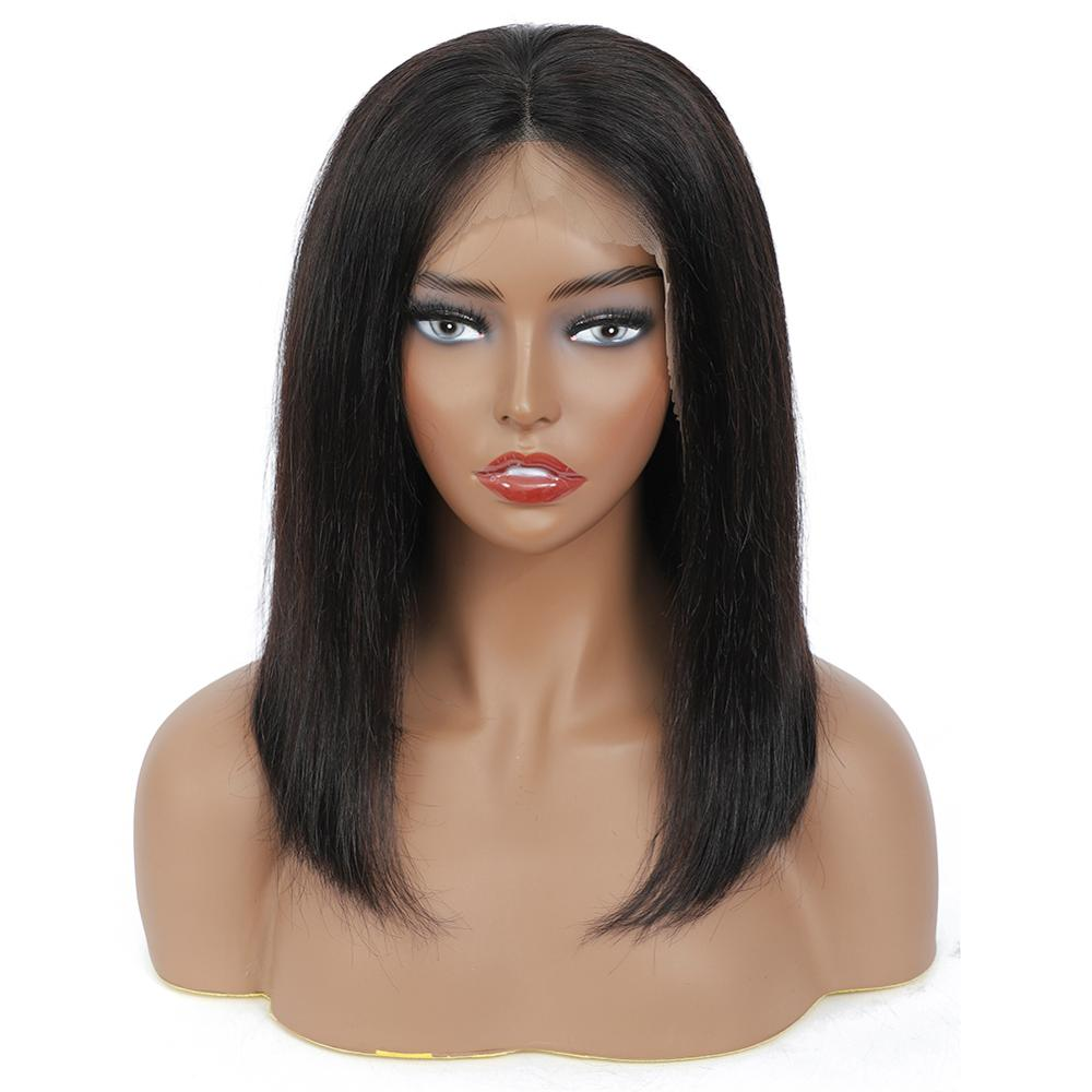 Wig Straight Short Bob Lace Front Wigs 13x4 Lace Front  Wigs Pre-plucked With Baby Hair  3