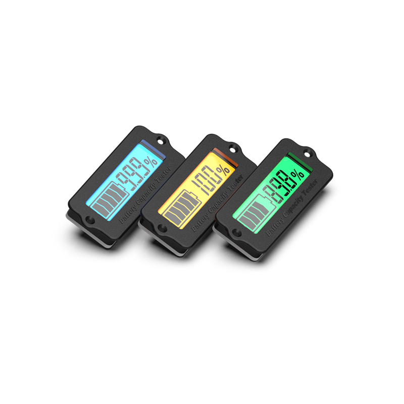 12V 24V 36V 48V Lead-Acid Battery LY6N Recessed Battery Capacity Indicator Tester Voltmeter Green Light Battery Charge Indicator