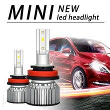 цена на 2PCS H4 H7 LED H11 H1  9006 Car LED Headlight Bulbs Hi-Lo Beam 90W 12000LM 6000K Auto Headlamp Led Car Lights 12v Car Styling