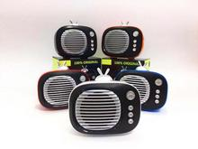 TWS:1+1 Bluetooth Speaker  TV Mini Portable Wireless Bass Retro Photo Frame caixa de som tv