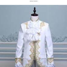 Позолоченная винтажная Мужская одежда, разноцветные вечерние, для сцены, для выступлений, удобные и дышащие