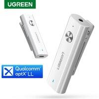 Ugreen Bluetooth 5,0 Empfänger 3,5mm APTX LL AUX Adapter für Kopfhörer Lautsprecher Musik Drahtlose Bluetooth 3,5 Jack Audio Empfänger