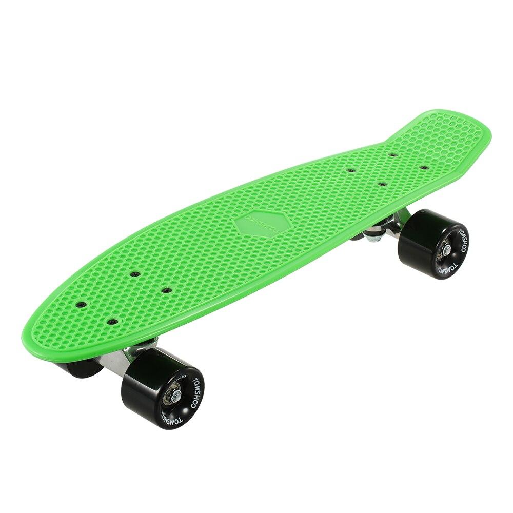 Hot New  22 Inch Skateboard Cruiser Board PU Four-wheel Street Banana Long Skate Board Mini Skate Board Complete Deck Skateboard