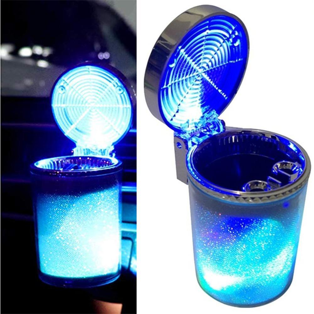Cendrier de Cigarette de voiture pour le support de verre cendrier de Cigarette d'évent de voiture avec le changement de couleur de lumière LED et la couverture pour des voitures