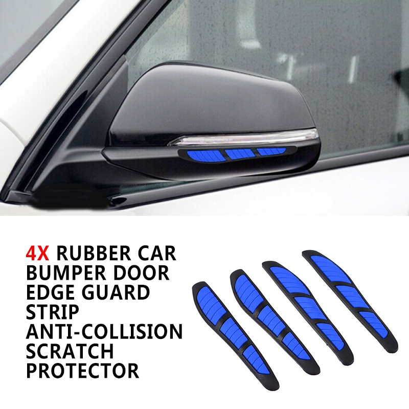 Pcmos Car Door Edge Guard Strip Scratch Protector Anti-collision Trim Mirror Sticker Auto Exterior Accessories Red Blue Yellow