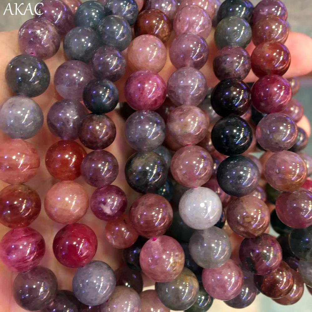 AKAC 7 7.8mm/8 9mm naturalne rzadko kolorowy spinel bransoletka kamień dla kobiet mężczyzn bransoletka w Koraliki od Biżuteria i akcesoria na  Grupa 2
