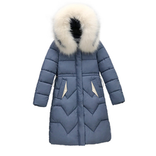 New Winter 2019 Casual fashion Coat Sustans Fur Hooded A Line Thick Full Sleeve X Long Zipper Solid Plus Size Parka Women Tops