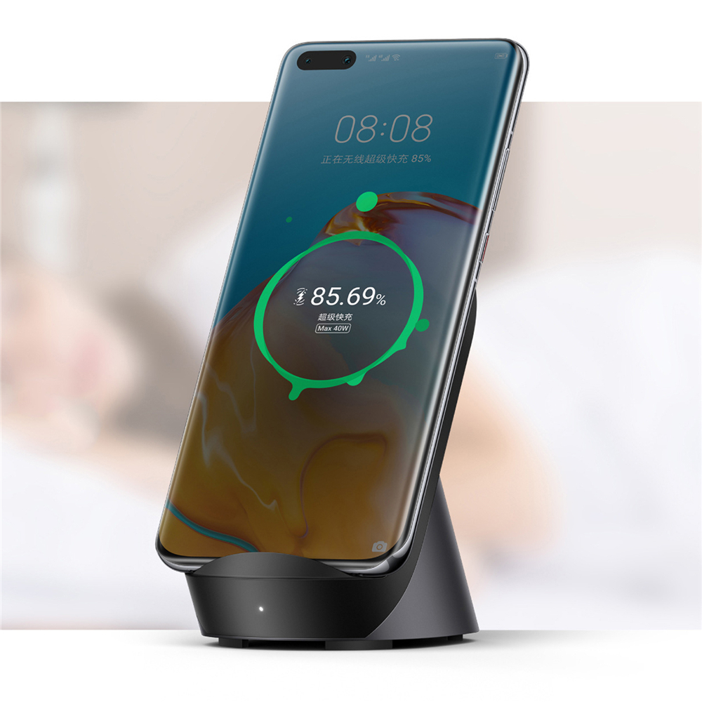 Super Fast Quick Charger Vertical Wireless Charger 40W with Cooling Fan for HUAWEI P40 Pro/Mate 30 for iPhone 11/X