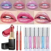 Matte Lipsticks Makeup Lipgloss Cosmetic Lip Tint Beauty Long-Lasting Waterproof Cup