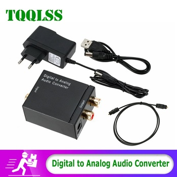 цена на Hot Sale Digital to Analog Adapter Optical Fiber Toslink Coaxial signal to Analog RCA Audio Converter DAC Amplifier Decoder USB