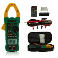 Mastech MS2115A DC AC Current 1000A True RMS Digital Clamp Meter 6000 Counts Voltage Tester with INRUSH and NCV Measurement