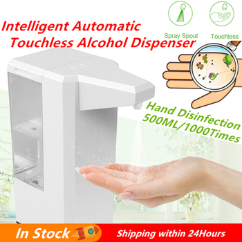 Intelligent Automatic Touchless Alcohol Dispenser for Hand Disinfection Handsfree Alcohol Spray Machine Liquid Soap Dispenser