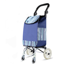 Wheels Trolly Folding with And Anti-Slip-Grips for Groceries Lightweight Great-Loading-Capacity