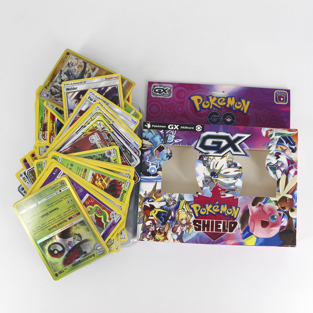 2020 New Takara Tomy Pokemon Sword Shield Card Collection Shining Box Trainer Flash Cards GX Energy Tag Team 56pcs Toys For Kids