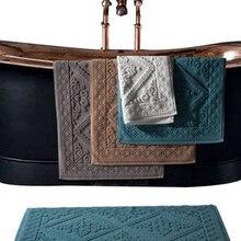 Jacquar Cotton Towel Ant-slip Hotel Spa Beauty Bath Mat for
